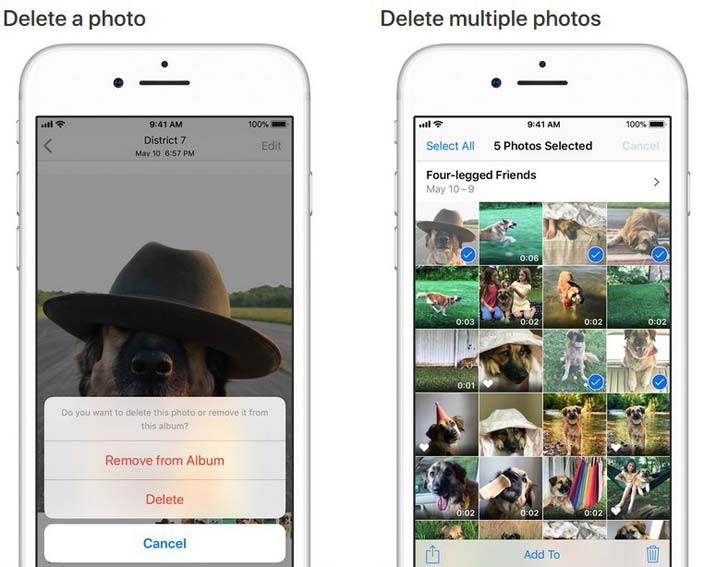 delete all photos from iphone