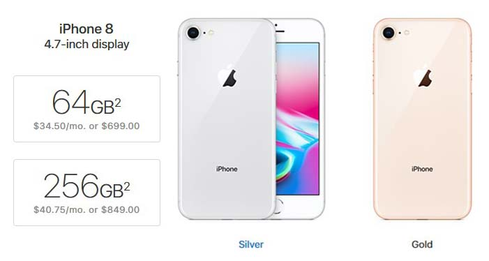 how much is the iphone 8