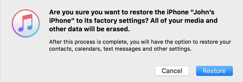 restore your iphone