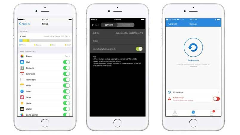 backup contacts on iphone 6