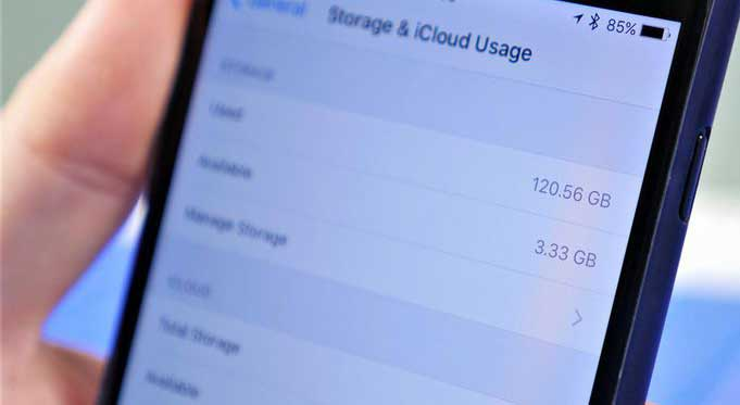 check available storage on iphone 6