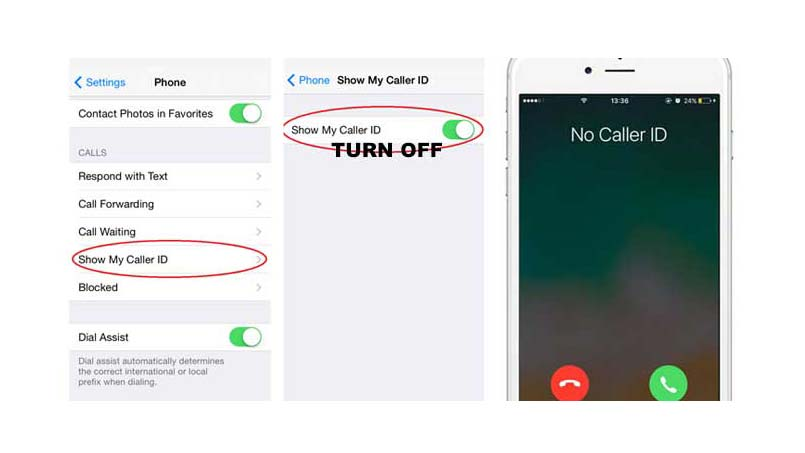 hide number from outgoing calls on iphone 6