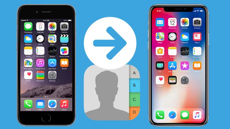 transfer contacts from old iphone to new iphone