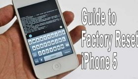 factory reset iphone 5