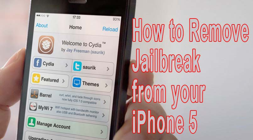 remove jailbreak on iphone 5