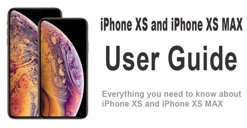 user guide for iphone xs