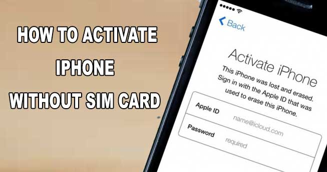 activate an iphone without a sim card