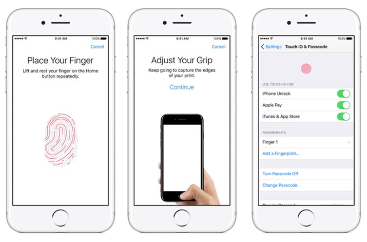 enable touch id on iphone