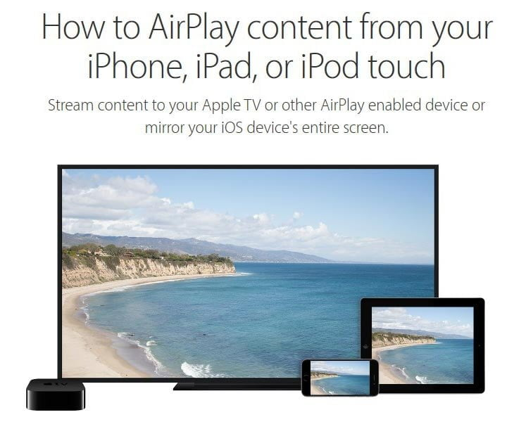 enable airplay on iphone
