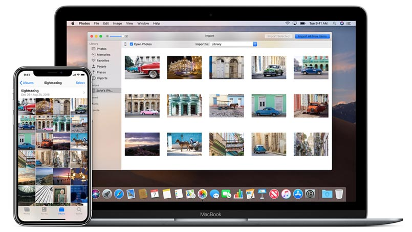transfer photos from iphone to mac